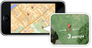 Точность определения координат GPS-маяка
