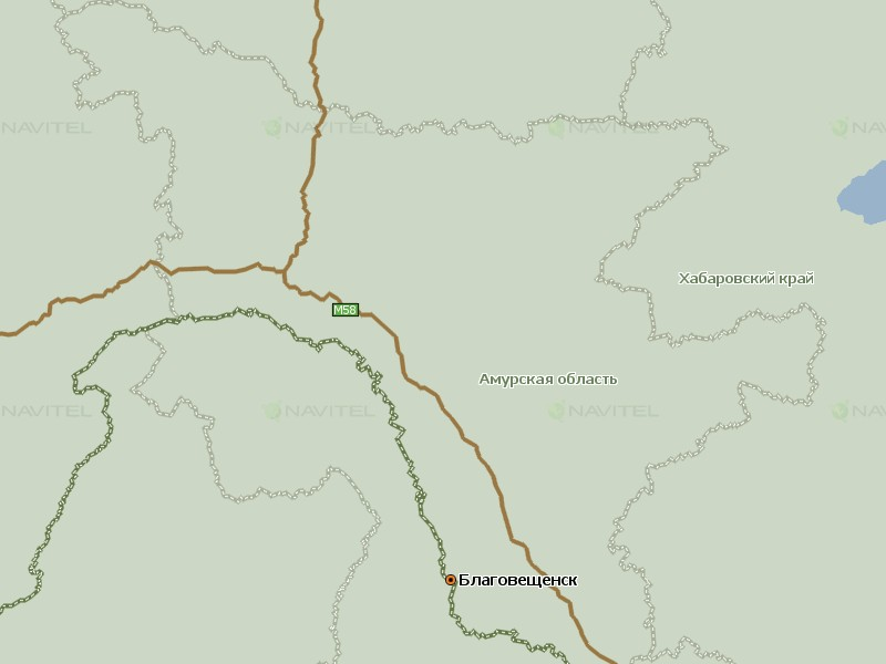 Карта Амурской области для Навител Навигатор