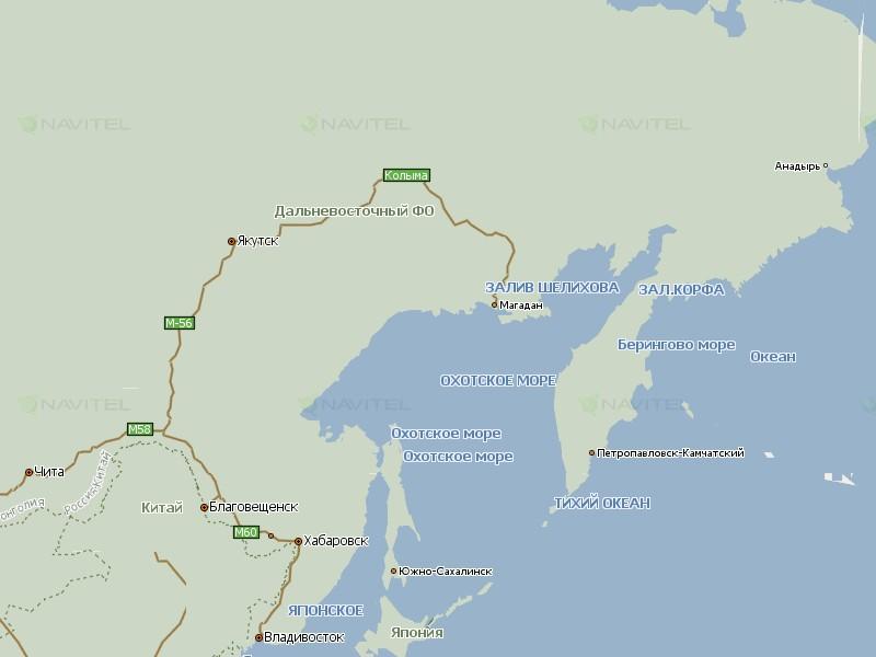 Карта Дальнего Востока для Навител Навигатор