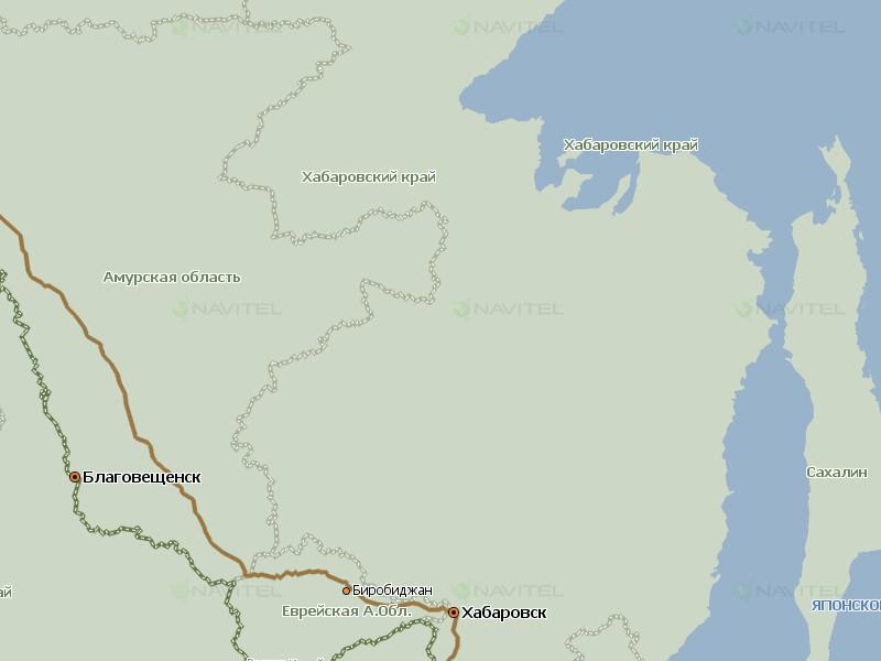 Карта Хабаровского края для Навител Навигатор