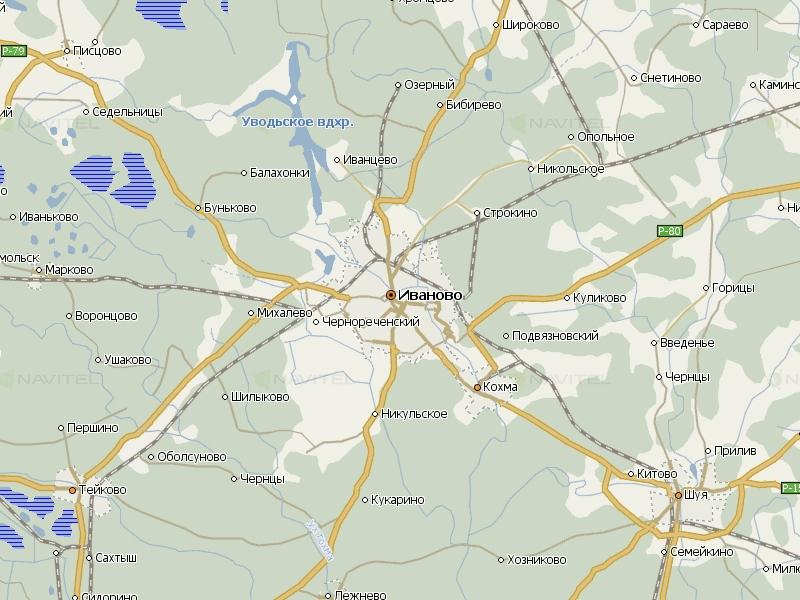 Карта Иваново для Навител Навигатор