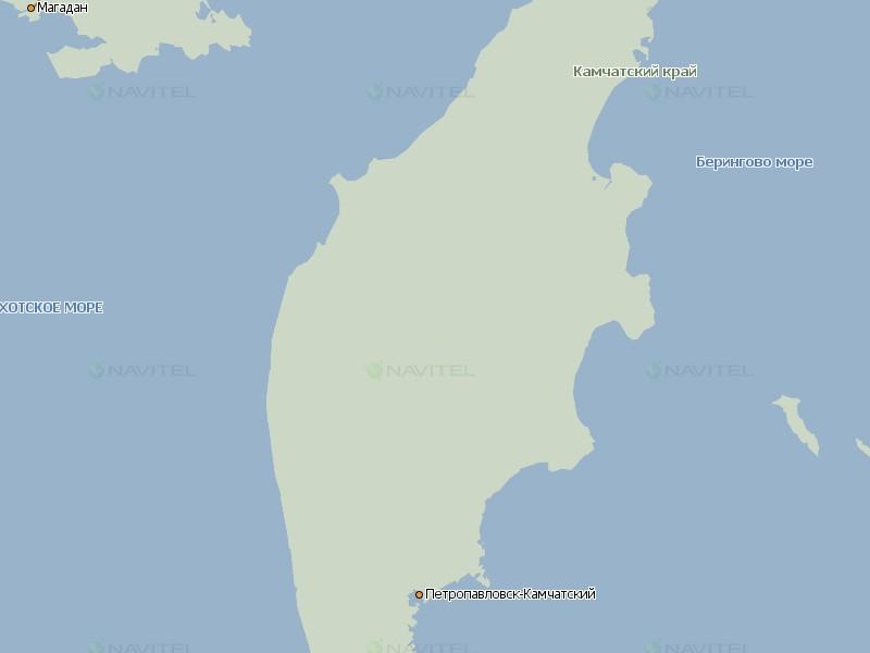 Карта Камчатки для Навител Навигатор