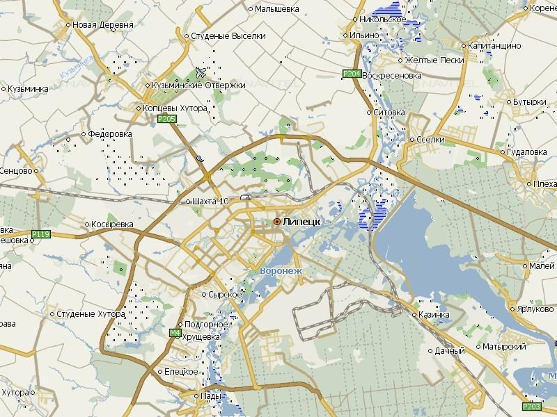 Карта Липецка для Навител Навигатор
