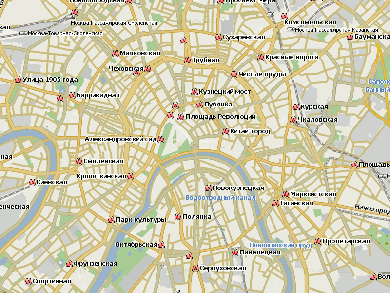 Карта Москвы для Навител Навигатор