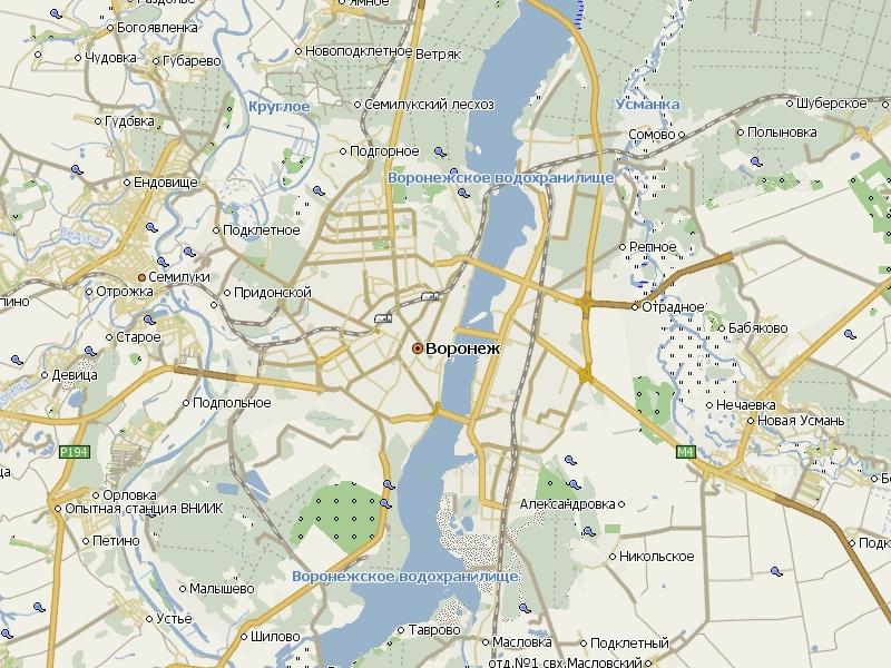Карта Воронежа для Навител Навигатор