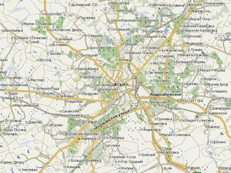 Карта Орла для Навител Навигатор