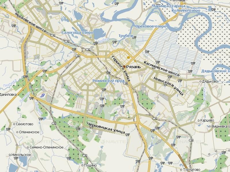 Карта Рязани для Навител Навигатор