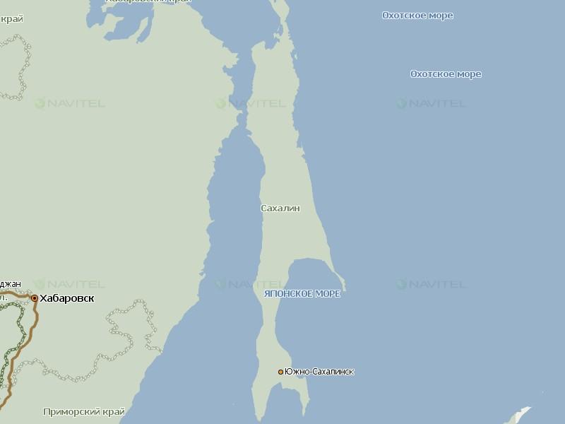 Карта Сахалина для Навител Навигатор