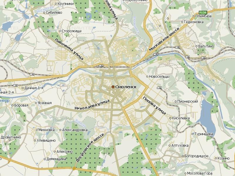 Карта Смоленска для Навител Навигатор