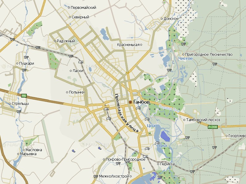 Карта Тамбова для Навител Навигатор