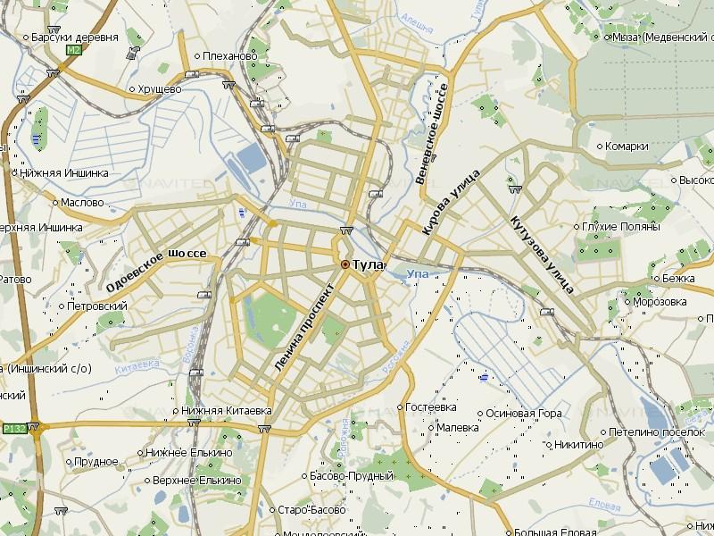 Карта Тулы для Навител Навигатор