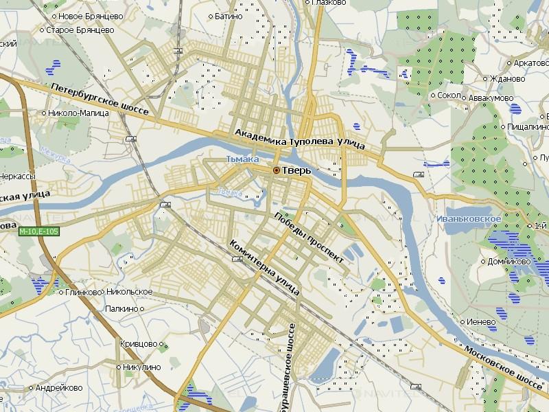 Карта Твери для Навител Навигатор