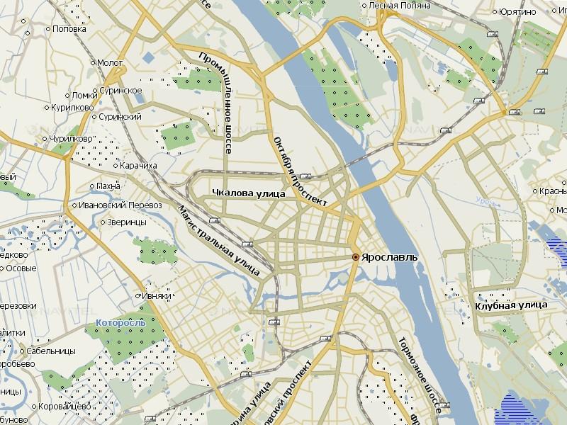 Карта Ярославля для Навител Навигатор