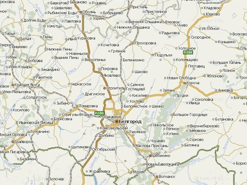 Карта Белгородской области для Навител
