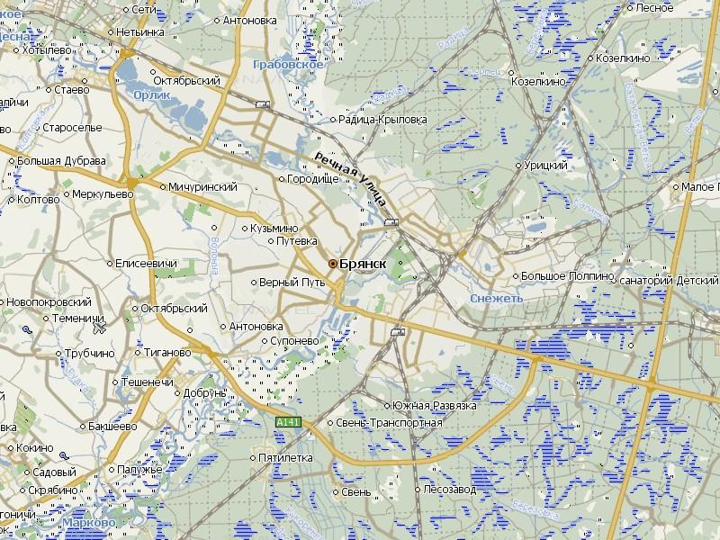Карта Брянска для Навител Навигатор