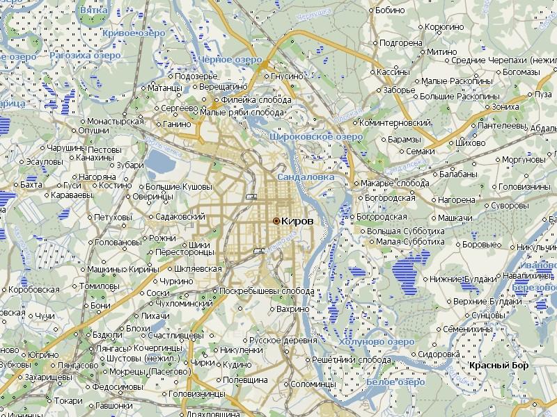 Карта Кирова и Кировской области для Навител Навигатор