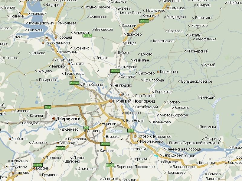 Карта Нижегородской области для Навител Навигатор