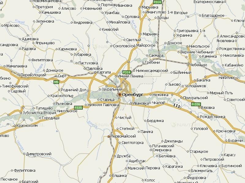 Карта Оренбургской области для Навител Навигатор