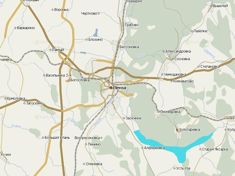 Карта Пензенской области для Навител Навигатор