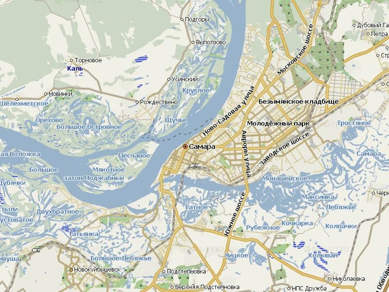 Карта Самары для Навител Навигатор